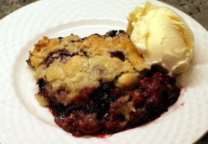 Fresh Blackberry Cobbler with Ice Cream - Belle Fete Catering Orange County & Los Angeles